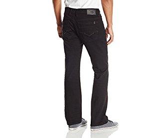 Buffalo David Bitton Men's King Slim Fit Boot Cut Jean New Super Black