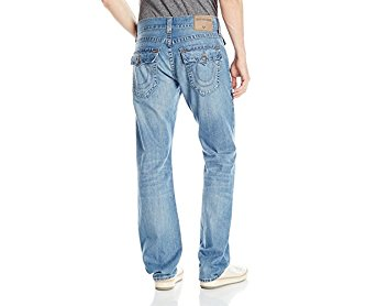 True Religion Men's Ricky with Flap Relaxed Straight Jean in Dust Cloud