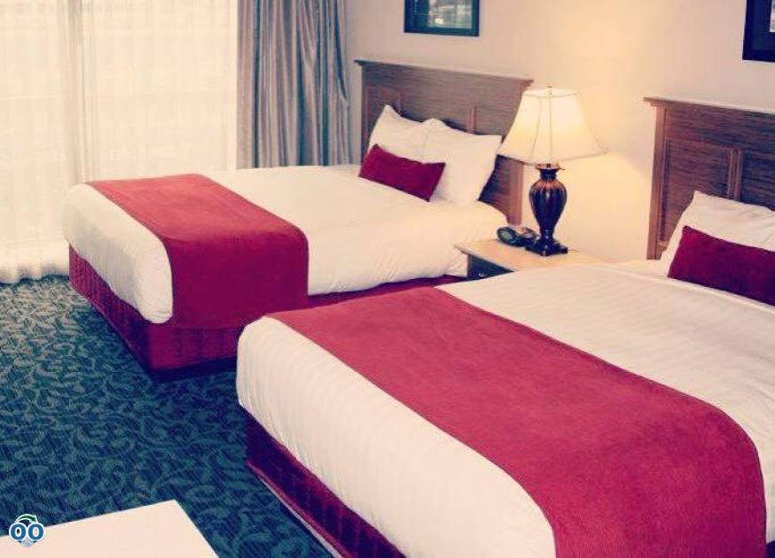 Spacious, non-smoking Queen room features two queen beds