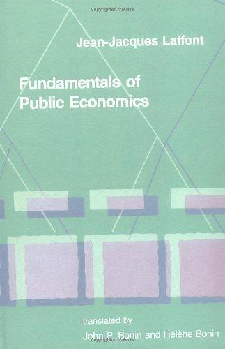 Fundamentals of Public Economics