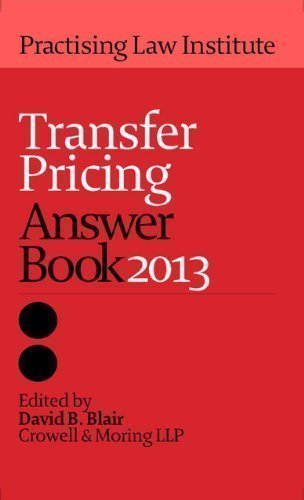 Transfer Pricing Answer Book 2013