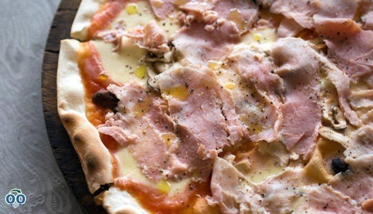 Pizza au prosciutto et Fleuron