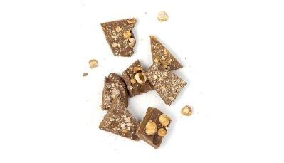 Milk chocolate and peanut Brittles