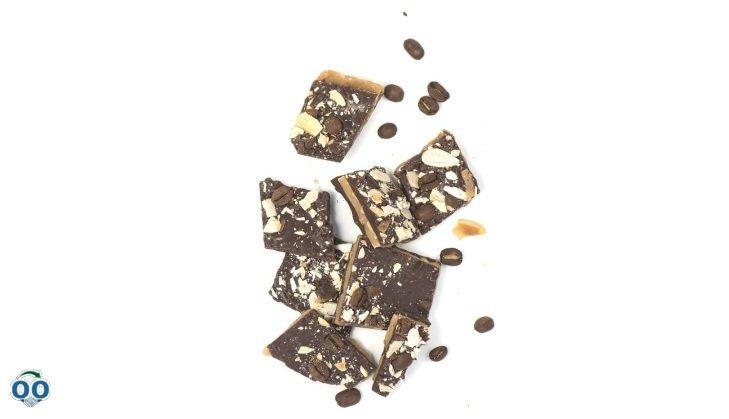 Croquants Chocolat noir 55%, amandes et café