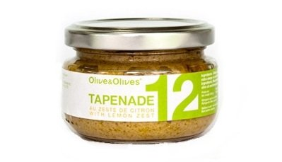 Olive & olives tapenade - lemon peel