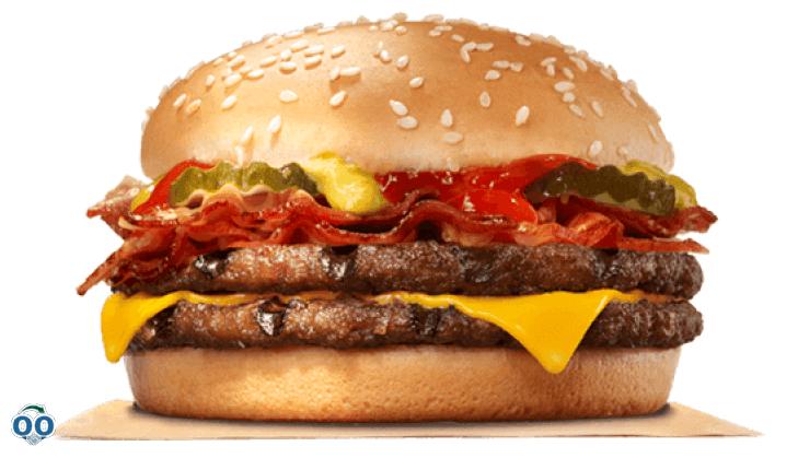 Hamburger double avec bacon et fromage