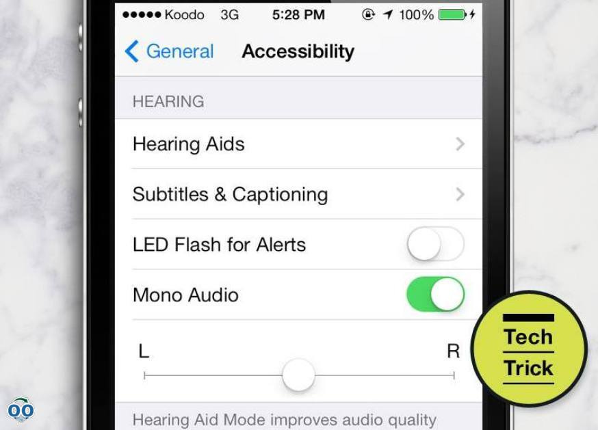 Set your phone audio to mono if you like to listen with one headphone