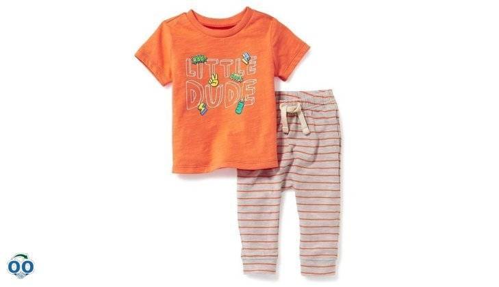2-Piece graphic tee and leggings set for baby