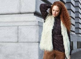 Stay warm and stylish in this faux-fur vest