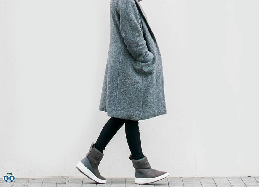 Ecco ukiuk - lined with natural lamb's wool for toasty feet all day