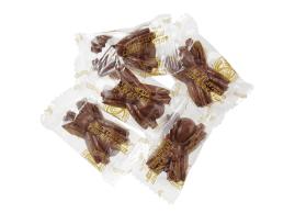 Araignées en chocolat au lait, enveloppées