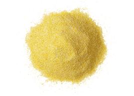 Semoule de maïs jaune, faite sans ingrédients du blé
