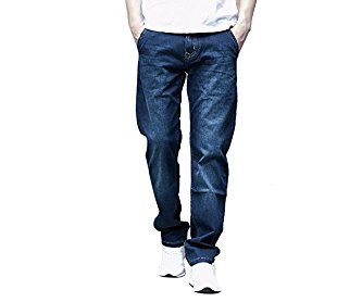 4Chiclife Men's Big Tall Relaxed Straight-Fit Lightweight Jean