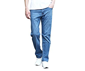 4Chiclife Men's Relaxed Loose Fit Jean Pant