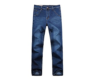4Chiclife Men's Stylish Stright Fit Straight Leg Jeans Trousers 28W-48W