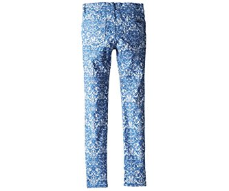 7 for All Mankind Girl's Skinny Legging Jeans 7FFXG2162 7 Moroccan Blue Jacquard