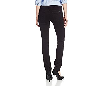7 For All Mankind Women's Kimmie Straight Jean In Slim Illusion Luxe Black