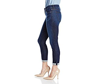 7 for All Mankind Women's Skinny Crop and Roll Jean in Nouveau New York Dark