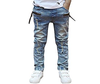 BEIBEI Kids Big Boys Jeans Children Spring Casual Pants for Boys 3-13 Years