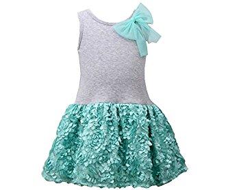 Bonnie Jean Little Girls' Mint Bonaz Dress 4-6X