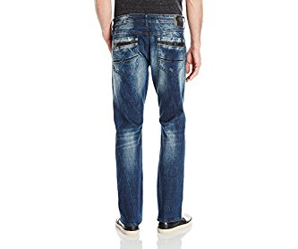 Buffalo David Bitton Men's King Slim Boot Cut Jean in Sanded and Vintage Wash