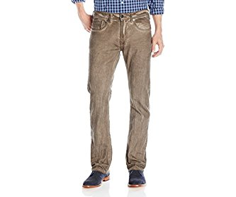 Buffalo David Bitton Men's Six Slim Straight Leg Jean in Derby