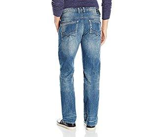 Buffalo David Bitton Men's Six Slim Straight Leg Jean Sanded and Whiskered