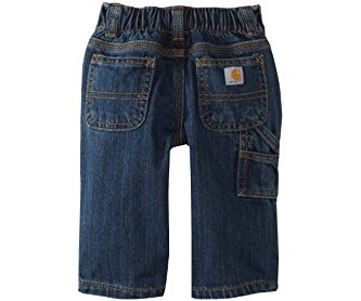 Carhartt Baby Boys' Washed Denim Dungaree Jeans