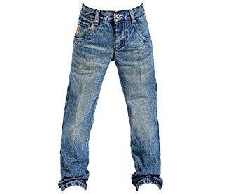 Cinch Western Denim Jeans Boys Tanner Med Stonewash MB16981001
