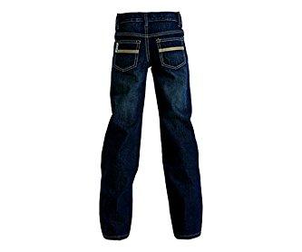 Cinch Western Denim Jeans Boys White Label Slim Dark Wash MB16541001