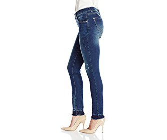 Democracy Women's 30 Inch Skinny Jean with Released Helm and Destruction