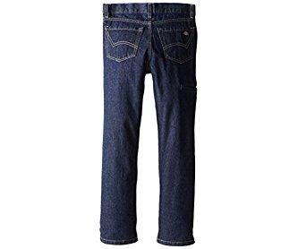 Dickies Big Boys' Slim Straight Icon 6-Pocket Jean Rinsed Indigo 8