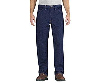 Dickies RU900RNB Relaxed Fit Carpenter Jean (Rinsed Indigo Blue;40W x 37L Unhemmed)