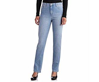 GLO Women's Mandie Classic Fit Straight-Leg Jeans Jazz 8 Short