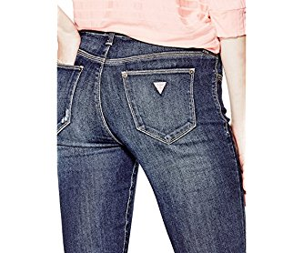 GUESS Sienna Curvy Skinny Jeans in Dark Destroy Wash
