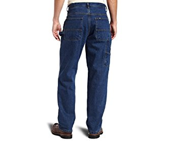 Key Apparel Men's Heavyweight Relaxed Fit Enzyme Wash Ring Spun Denim Dungaree