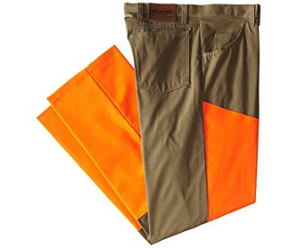 Wrangler Men's Big-Tall Progear Big Upland Bark with Blaze Orange Jean