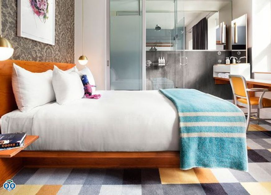 Queen bed, The Drake Hotel Toronto