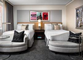 Double bed guestroom, Loews Hotel Vogue Montreal