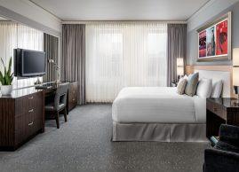 Executive suite bedroom, Loews Hotel Vogue Montreal