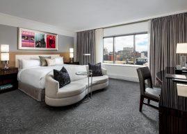 Grand king guestroom, Loews Hotel Vogue Montreal