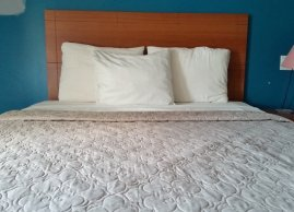 Queen bed, Avenue Motel Mississauga