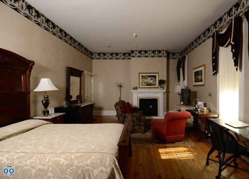 This suite's antique walnut bed and antique walnut dresser