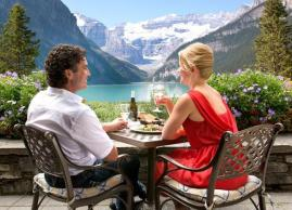 Patio dining at Fairmont Chateau Lake Louise
