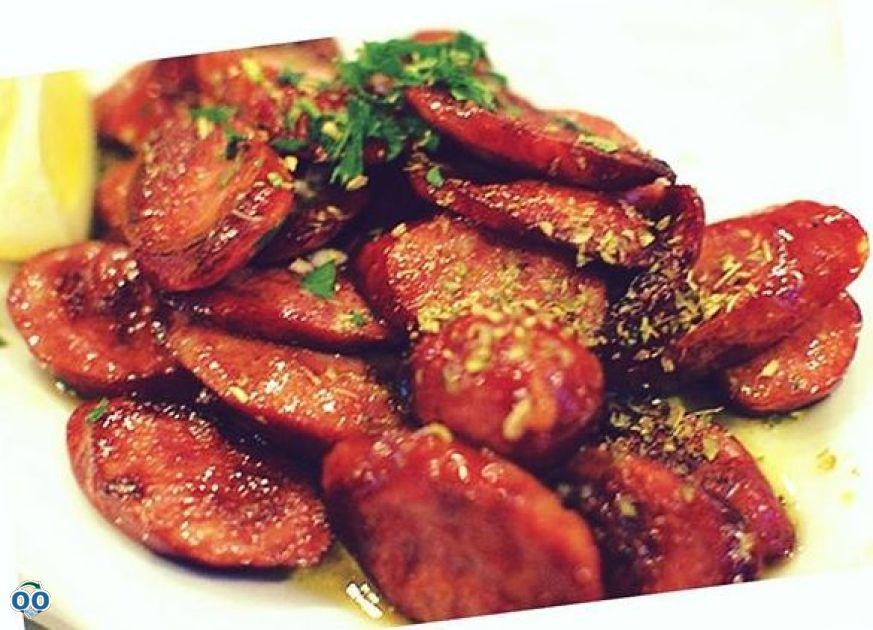 Loukaniko Greek sausage, Usine Grecque