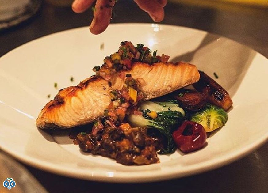 Our grilled salmon is one of the many dishes on our late night menu