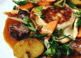 Pan-fried ravioli,  O'Thym Restaurant