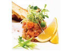 Tartare of salmon zibo