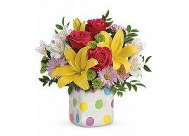 Teleflora's Delightful Dots Bouquet, La Grace des Fleurs
