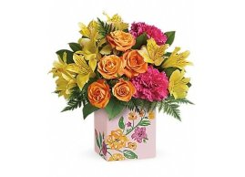 Teleflora's Painted Blossoms Bouquet, La Grace des Fleurs